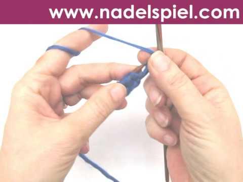 Stricken lernen * Runden stricken mit zwei Nadeln