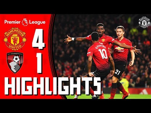Highlights   Manchester United 4-1 Bournemouth   Premier League