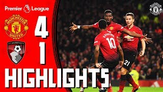 Download Video Highlights | Manchester United 4-1 Bournemouth | Premier League MP3 3GP MP4