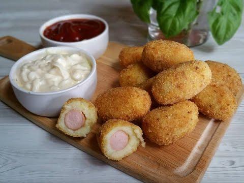 crocchette di patate con ripieno di wurstel - ricetta facile e veloce