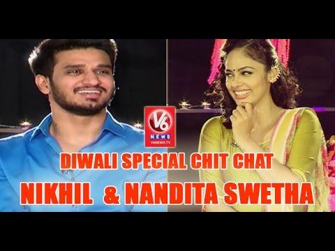 Nikhil Siddharth And Nandita Swetha In Diwali Special Chit Chat | Ekkadiki Pothavu Chinnavada | V6