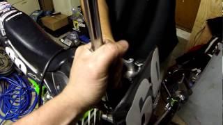7. Kawasaki KX65 KX Suzuki RM65 RM  Dirtbike Minimoto Fork Spacer Install ( HD POV ) GOPRO HERO BLACK