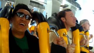 Video Six Flags Magic Mountain Batman the Ride Reaction HD MP3, 3GP, MP4, WEBM, AVI, FLV November 2018