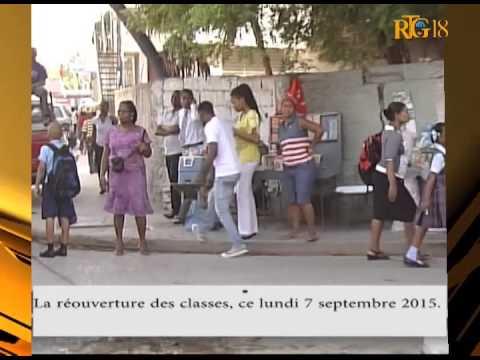 Haïti / Éducation.- La réouverture des classes, ce lundi 7 septembre 2015.