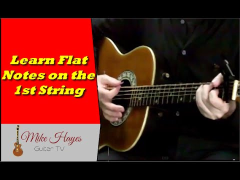 Guitar Notes For Beginners  – Learn Flat Notes On First String In 3 Simple Steps