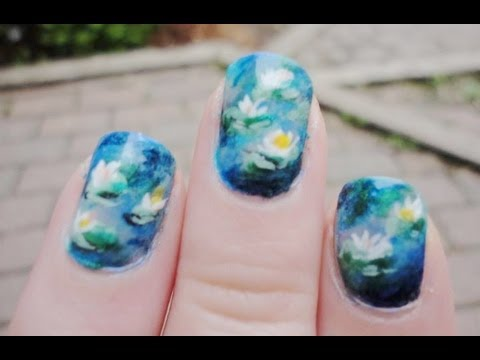 Nail Tutorial: Claude Monet Water Lilies