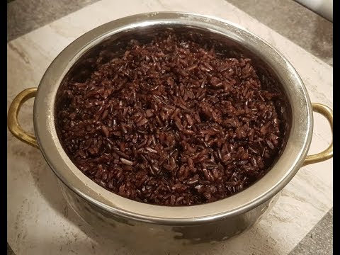 How I Cook BLACK RICE (EASY & Super Healthy) - Steven Heap