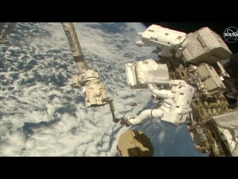 ESA, NASA astronauts carry out spacewalk repair