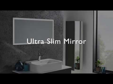 1000mm ultra slim mirror roper rhodes for Bathroom mirror cabinets 900mm and 1000mm
