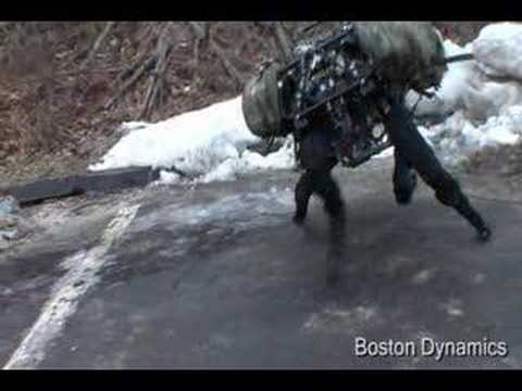 big - Boston Dynamics just released a new video of the Big Dog on ice and snow, and also demoing its walking gait.