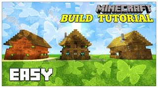 Minecraft: How To Build A Small Survival House Tutorial (survival shack ) (mini cottage) 2016