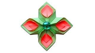 Цветок из бумаги Поделки оригами