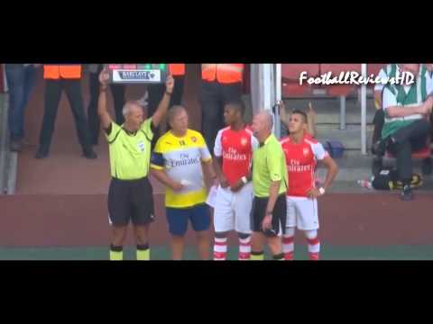 Alexis Sanchez Debut for Arsenal ~ Arsenal vs Benfica 5 1 Emirates Cup 2014 FULL HD