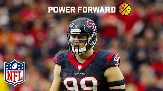 NFL's 2016 NBA Dream Team | ft. Defensive POY J.J. Watt (Houston Texans, DE) at PF | NFL by NFL