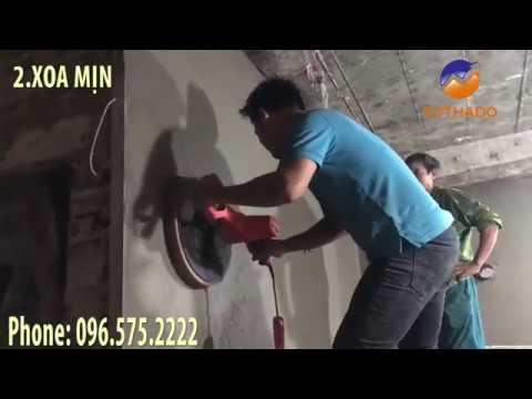 Máy xoa tường giải pháp cho việc không cần phụ thuộc nhiều vào tay nghề thợ