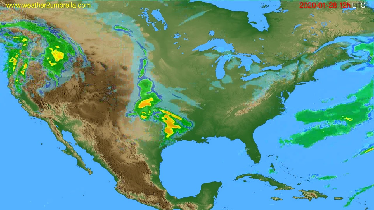 Radar forecast USA & Canada // modelrun: 00h UTC 2020-01-28