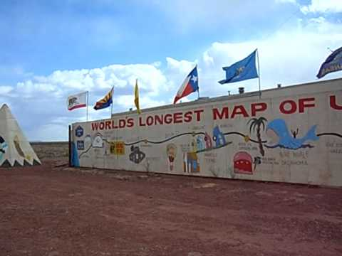 World's Longest Map of Route 66 - Meteor City, Arizona