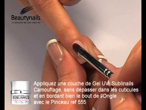 comment poser french manucure gel