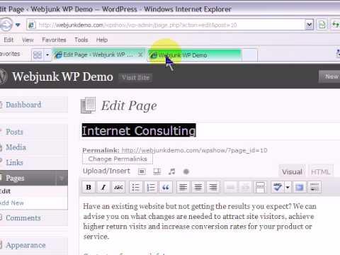 WordPress – How to create Sub menus.