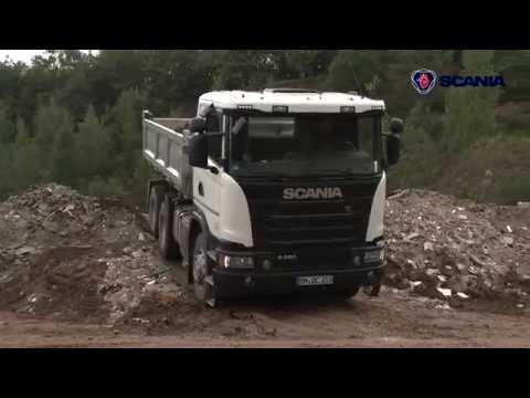 Scania Test & Drive 2015 - Baufahrzeuge im Einsatz