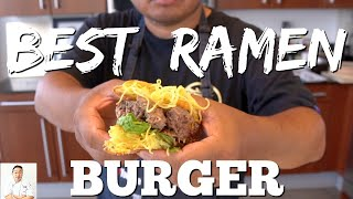 BEST Ramen Burger   Easy To Do Recipe by Diaries of a Master Sushi Chef