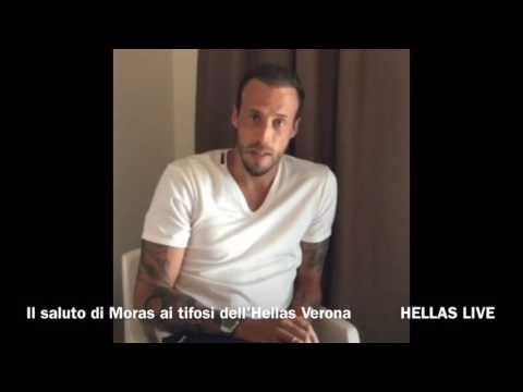 Moras saluta gli ultras dell'Hellas Verona