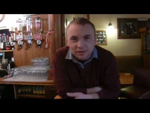 Buttevant - a random walk down Buttevant town County Cork, talking to people in the streets,- a man outside the bookies, a woman at the bus stop, the marshall for St Pat...