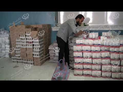 الشؤون الاجتماعية توزع سلة رمضانية للمحتاجين في العجيلات