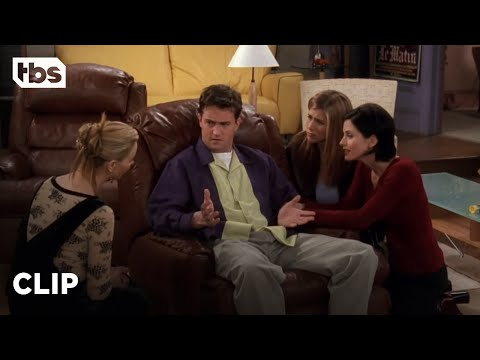 Friends: The Girls Help Chandler Get Over His Break-Up (Season 4 Clip)   TBS