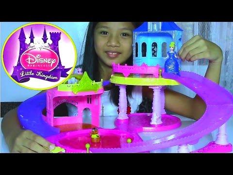 Disney Princess Little Kingdom Glitter Glider Castle Playset with Cinderella – Kids' Toys