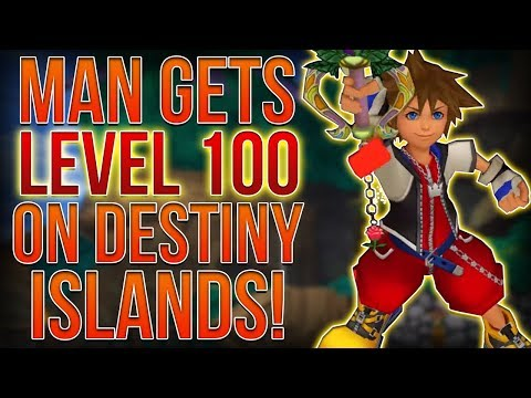 MAN GETS LEVEL 100 ON DESTINY ISLANDS IN KINGDOM HEARTS 1!? (видео)