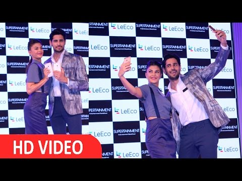 Sidharth Malhotra & Jacqueline Fernandez At Launch Of LeSuper Phone UNCUT