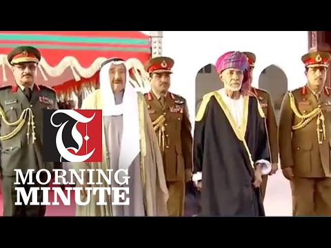 His Majesty the Sultan welcomed the Emir of Kuwait yesterday who is on a three day visit to Oman.