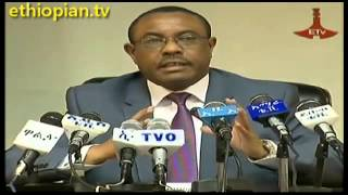 Ethiopian PM Hailemariam Desalegn : Press Conference - Part 1 Of 2