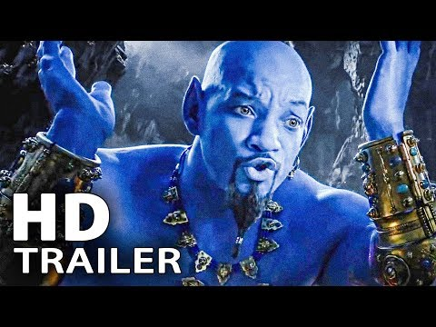 ALADDIN - ALL Trailers + Clips (2019)