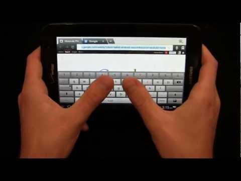 Verizon Samsung Galaxy Tab 2 7.0 Review Part 1