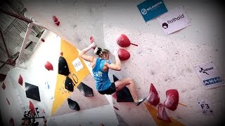 Uncut: Michaela Tracy crushing at the CWIF semis by OnBouldering