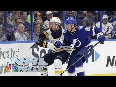Video: Nikita Kucherov hits 100 points in Bolts' Win vs. Buffalo Sabres | NHL | NBC Sports