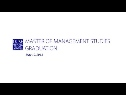 studies - The 2013 Master of Management Studies Graduation for Duke University - The Fuqua School of Business. The ceremony was held in Cameron Indoor Stadium in Durha...