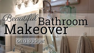 BEAUTIFUL BATHROOM MAKEOVER ON A BUDGET // COLLABORATION WITH VANILLA AND CANELA