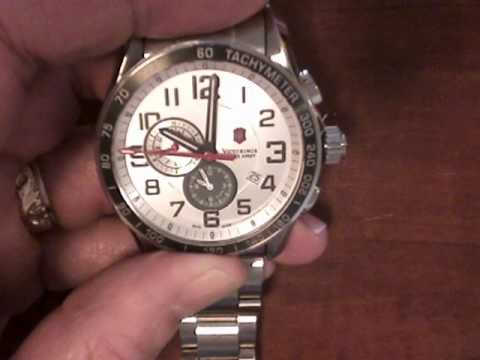 Reset default second hand position on Swiss Army Chrono Classic XLS Watch.