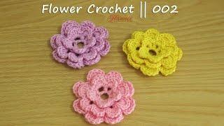 Crochet || Tutorial Bunga Rajut - Flower Crochet || 003