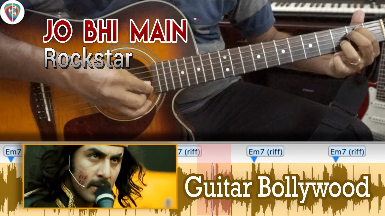 "#Learn2Play ★★★ ""Jo Bhi Main"" (Rockstar) chords – Guitar Bollywood Lesson"