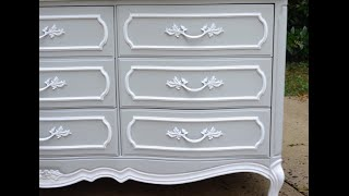 DIY Dresser Makeover: French Provincial Dresser Makeover - Thrift Diving