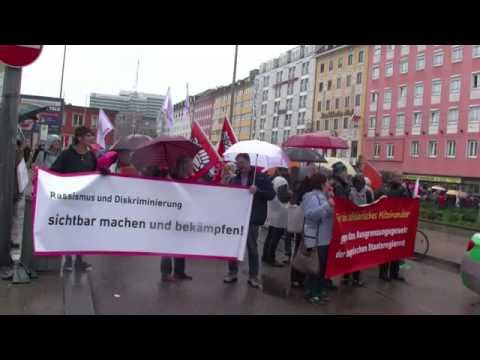 Hamado Dipama: Rede bei der Demo gegen das »Bayerische Integrationsgesetz«. München, 19.Juni 2016