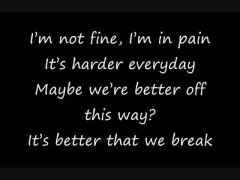 Maroon 5 - Better That We Break Lyrics | MetroLyrics