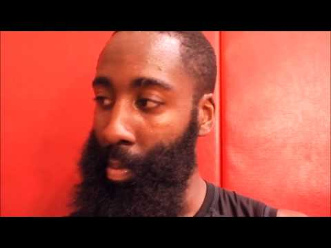 James Harden after Rockets 2014 Training Camp Day 2