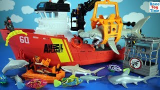 Hi kids, RaceToyTime here! Today, we are going to show and play with this Animal Planet Deep Sea Shark Research Playset. We also included some playmobil toy sea animals and others in this video, such as swimming fish, deep sea creatures, sharks, dolphins, turtle, and more for you guys to see.  Please be sure to subscribe to our channel if you haven't already, and like and share our videos. We have a lot of videos on our channel. Watch them all! We'll make more! Comment below if you like and as always, thanks for watching!Subscribe to racetoytime here - https://www.youtube.com/channel/UCVTQrl1dtafYX08IBb7EhrwWatch our other videos:  Learn Animal Toys Names │ Zoo Animals Elephant Lion Tiger Rhino for Kids - https://www.youtube.com/watch?v=KnsmONvQyeYLearning Sea Animals Toy Sharks Whales Dolphin - https://www.youtube.com/watch?v=9i88w4UqPnADinosaur Surprise Toys Game in the Claw Machine -  Learn Dinosaurs Names For Children - https://www.youtube.com/watch?v=H8AkVqFrxhoJurassic World Mini Dinosaurs Figures Blind Bag Exclusive Indominus Rex  - https://www.youtube.com/watch?v=_bgyS74lUR8Playmobil City Zoo Toy Wild Animals Building Set Build Review - https://www.youtube.com/watch?v=g5dbYcmUHZ8Playmobil City Life Large Zoo Toy Wild Animals Building Set Build Review - https://www.youtube.com/watch?v=IZXfiFPyW8EDinosaurs 3D Puzzles Animals Eggs Surprise Toys - Spinosaurus Ankylosaurus Pteranodon - https://www.youtube.com/watch?v=VJuukvLmpSgDinosaur Transforming Eggs Toys - Tyrannosaurus Rex Pterodactyl Velociraptor Triceratops - https://youtu.be/HT_CFeMP9GkToy Wild Animals 3D Puzzles Collection - Lion Panda Elephant Zebra Tortoise │ Animals for children - https://youtu.be/yabb98z1WC8Playmobil Toy Wild Zoo Animals Collection For Kids - Tiger Panda Koala Gorilla - https://youtu.be/L06I3WiWjNsPLAYMOBIL Country Farm Animals Pen and Hen House Building Set Build Review  - https://www.youtube.com/watch?v=dGplrNa-NZkPLAYMOBIL Toy Wild Zoo Animals Collection For Kids - Tiger Panda Ko