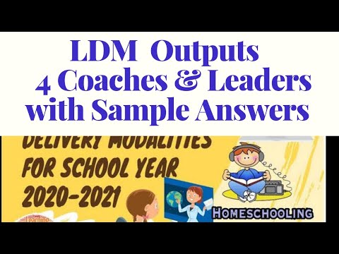 LDM Expected Output  for Coaches / LAC leaders
