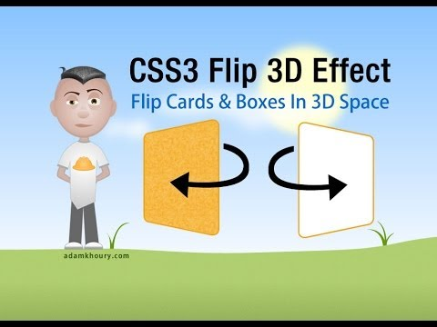 CSS3 Flip 3D Animation For Boxes and Cards HTML5 Tutorial
